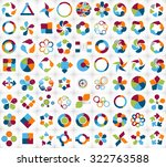 collection of infographic... | Shutterstock . vector #322763588