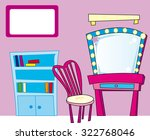 pretty girl pink room | Shutterstock .eps vector #322768046