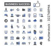 business success icons | Shutterstock .eps vector #322768946