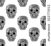 seamless pattern with decorate... | Shutterstock .eps vector #322773512
