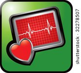 heart monitor on green web... | Shutterstock .eps vector #32278507