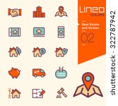 lineo colors   real estate and... | Shutterstock .eps vector #322787942