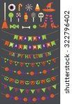 halloween bunting flags with... | Shutterstock .eps vector #322796402