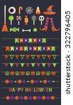 halloween cliparts and garlands ...   Shutterstock .eps vector #322796405