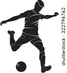 football  soccer  player with... | Shutterstock .eps vector #322796762