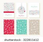 merry christmas set of line... | Shutterstock .eps vector #322811612