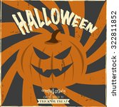 halloween vector illustration... | Shutterstock .eps vector #322811852