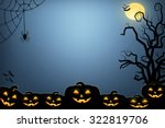 halloween background idea... | Shutterstock . vector #322819706