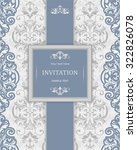 vintage invitation card with... | Shutterstock .eps vector #322826078