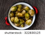 baked brussels sprouts | Shutterstock . vector #322830125