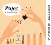 nail health. banner care of... | Shutterstock .eps vector #322836605