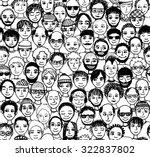 men   hand drawn seamless... | Shutterstock .eps vector #322837802