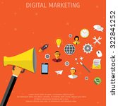 promotion concept. loudspeaker... | Shutterstock .eps vector #322841252