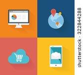 set of social media icons on...   Shutterstock .eps vector #322844288