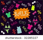 colorful blackboard for sale | Shutterstock .eps vector #32285227