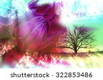 abstract landscape collage with ... | Shutterstock . vector #322853486