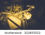 old antique vintage bicycle.... | Shutterstock . vector #322853522