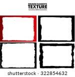 grunge frame texture set  ... | Shutterstock .eps vector #322854632