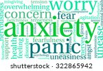 anxiety word cloud on a white... | Shutterstock .eps vector #322865942