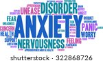 anxiety word cloud on a white...   Shutterstock .eps vector #322868726