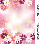 cosmoses background | Shutterstock .eps vector #322883846