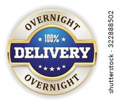 blue overnight delivery badge... | Shutterstock .eps vector #322888502