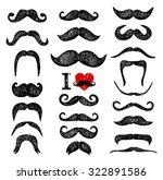mustaches set. design elements. ... | Shutterstock .eps vector #322891586