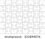 jigsaw puzzle blank template... | Shutterstock .eps vector #322894076