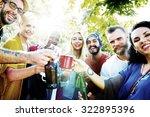 friend celebrate party picnic... | Shutterstock . vector #322895396