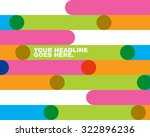 colorful rainbow overlapping... | Shutterstock .eps vector #322896236