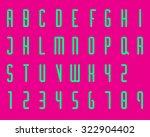 condensed modern font type   Shutterstock .eps vector #322904402