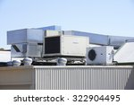 air conditioning on industrial... | Shutterstock . vector #322904495