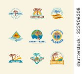 47 set concept  badge emblem... | Shutterstock .eps vector #322906208