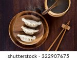 Top View Fresh Dumplings With...