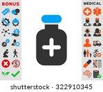 medication vial vector icon.... | Shutterstock .eps vector #322910345