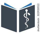 drug handbook vector icon.... | Shutterstock .eps vector #322920512