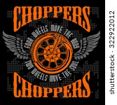 choppers   vintage bikers badge.... | Shutterstock .eps vector #322922012