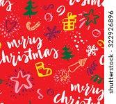 seamless christmas pattern. the ... | Shutterstock .eps vector #322926896