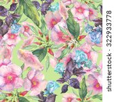 beautiful floral seamless... | Shutterstock . vector #322933778
