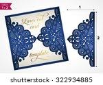 die cut wedding invitation card ... | Shutterstock .eps vector #322934885