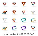 set of various geometric icons  ... | Shutterstock .eps vector #322935866