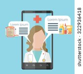 health application on a... | Shutterstock .eps vector #322936418