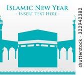 islamic new year vector template | Shutterstock .eps vector #322942382