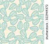 autumn leaves seamless pattern | Shutterstock .eps vector #322949372