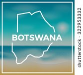botswana map against the... | Shutterstock .eps vector #322953332
