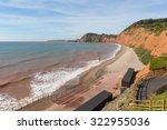 Sidmouth Beach Devon England U...