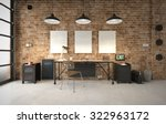 commercial office in an... | Shutterstock . vector #322963172