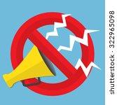 promotion concept. loudspeaker... | Shutterstock .eps vector #322965098