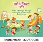 children's activity in the... | Shutterstock .eps vector #322970288