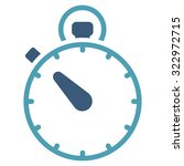 stopwatch vector icon. style is ...   Shutterstock .eps vector #322972715